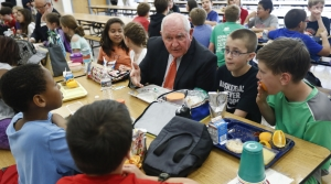 Agriculture Secretary Sonny Perdue has lunch with students