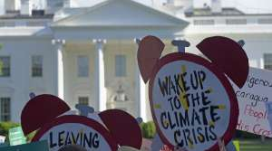 Protesters gather outside the White House in Washington
