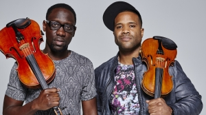 "Wil ""Wil B"" Baptiste and violinist Kevin ""Kev Marcus"" Sylvester"