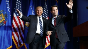 Donald Trump and Scott Walker