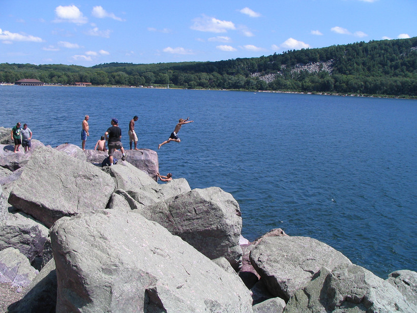 A view of Devil's Lake State Park.