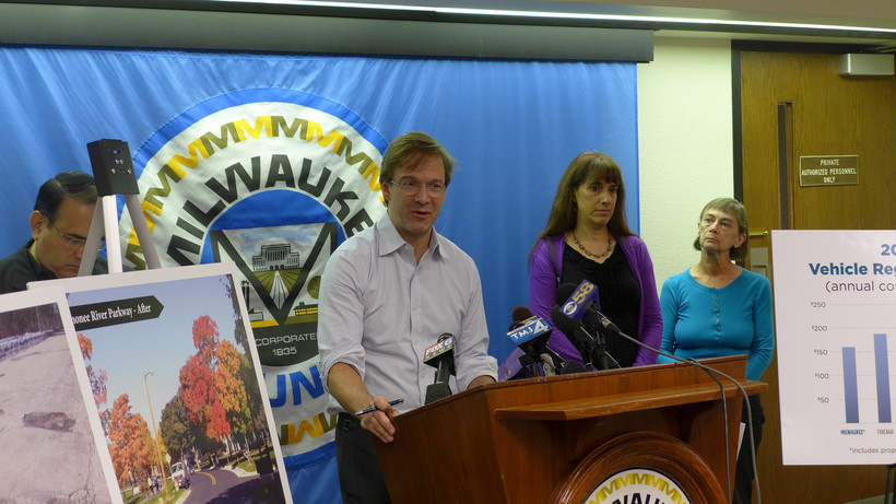 Milwaukee County Executive Chris Abele reveals his county transit funding plan