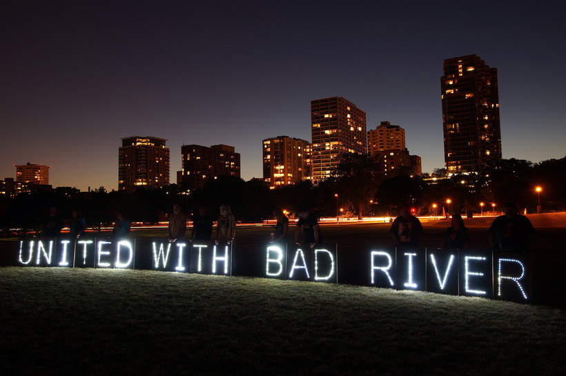 """""""United With Bad River"""" Sign"""