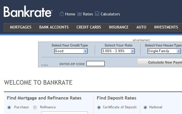 Bankrate.com Homepage