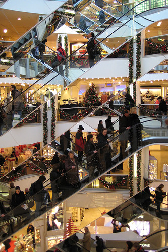 Christmas shopping, image by Flickr user Andreas Schaefer