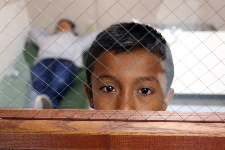 Immigrant boy in Brownsville, Texas