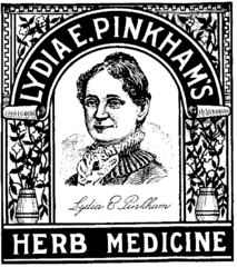 Lydia Pinkham label, public domain