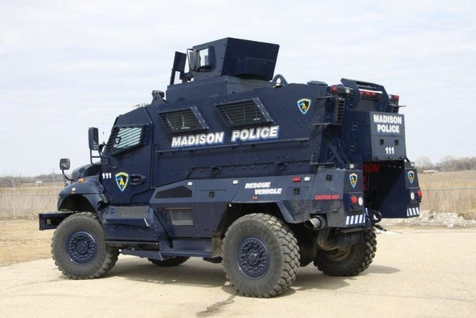 Madison Police Department's armored rescue vehicle