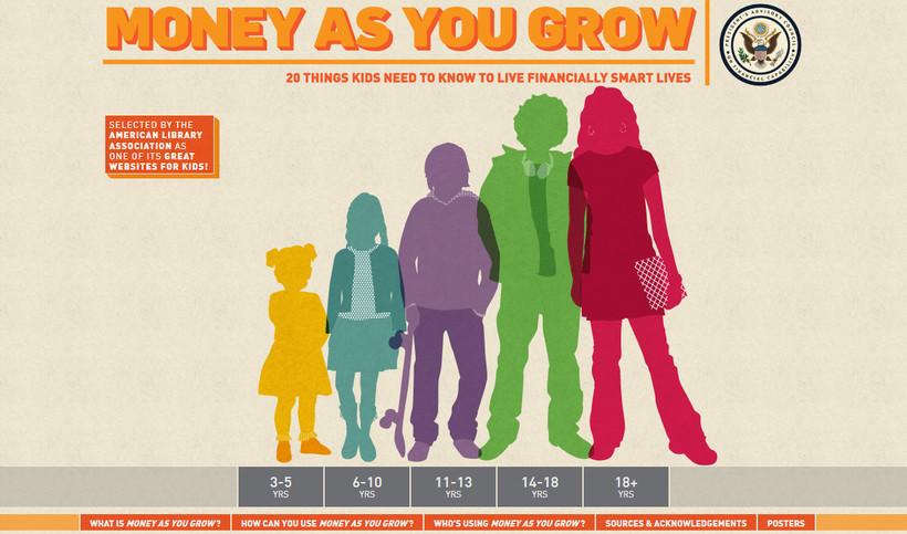 MoneyAsYouGrow.org homepage