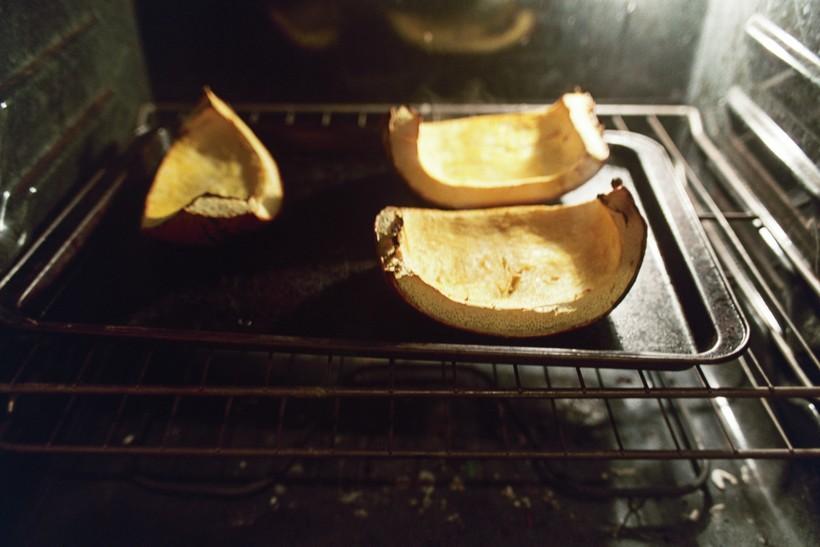 Pumpkin in the oven