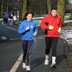 Runners, by Paul Holloway, via Wikimedia Commons