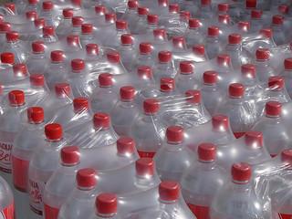 plastic bottles, image by Flickr user ntr23