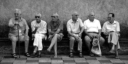 Group Of Aged Men