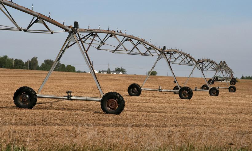 rotary irrigation outside Beloit