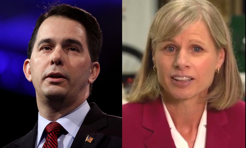 Gov. Scott Walker and Democratic challenger Mary Burke
