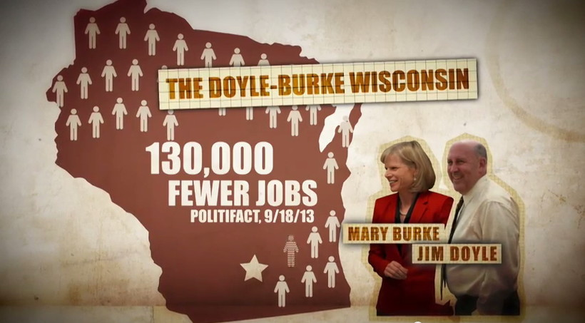 Still from a campaign ad against Mary Burke by the Republican Governors Association