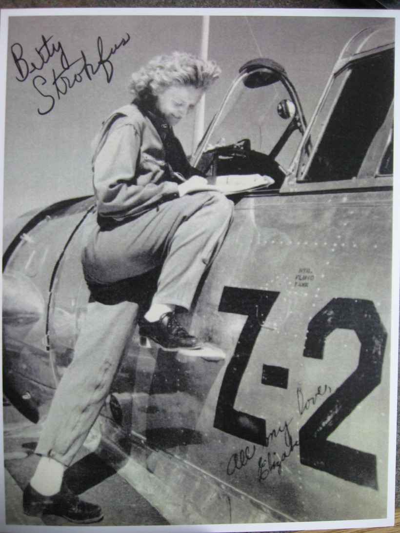 Betty Strohfus in an undated wartime photo