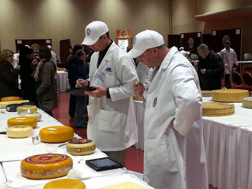 Judges at the 2014 World Cheese Championship