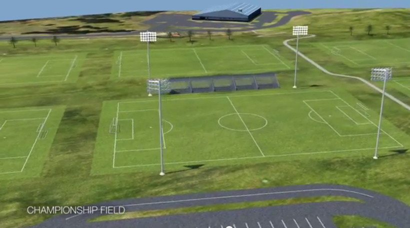 Rendering of a soccer field on the Holtz-Krause landfill