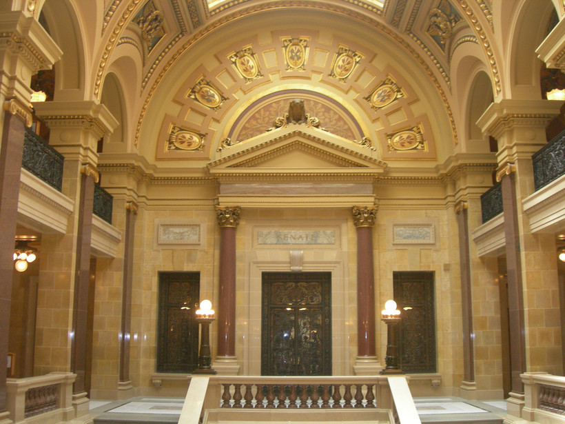 State Senate chambers in the Wisconsin Capitol
