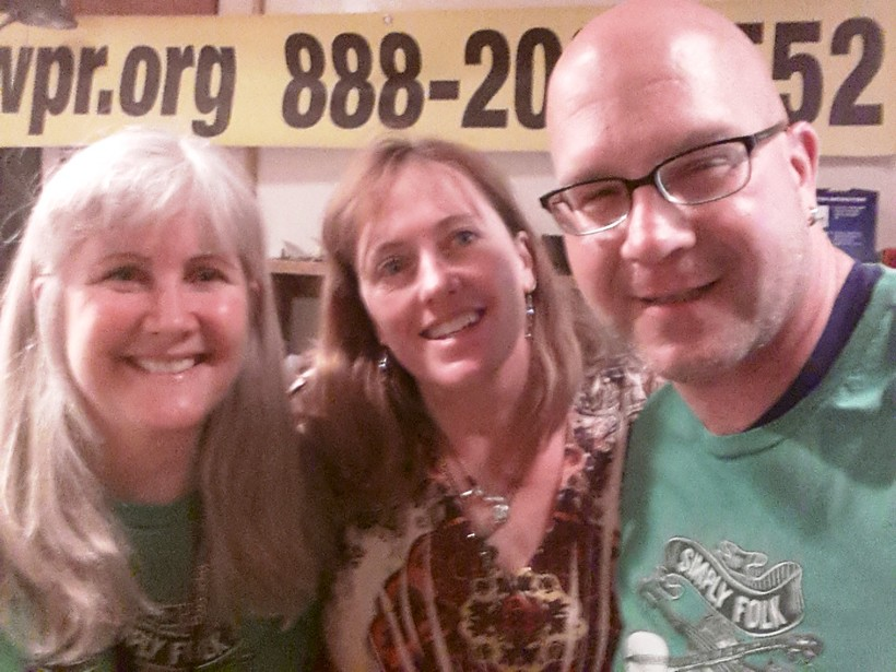 Simply Folk's Steph Elkins, Sile Shigley and Jeff Durkee