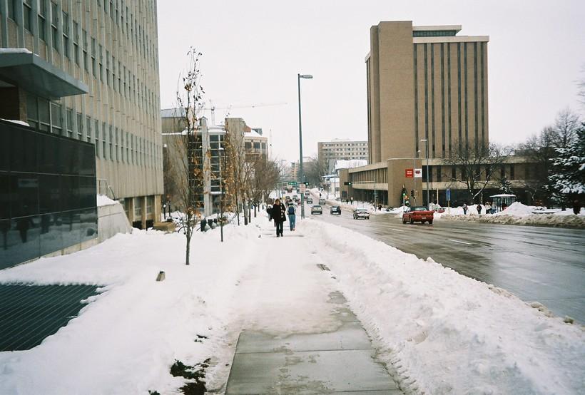 UW-Madison campus in winter