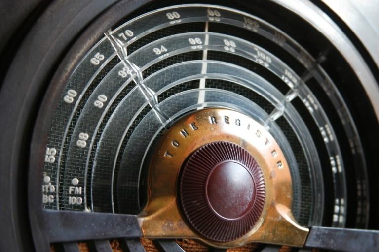 Antique radio dial
