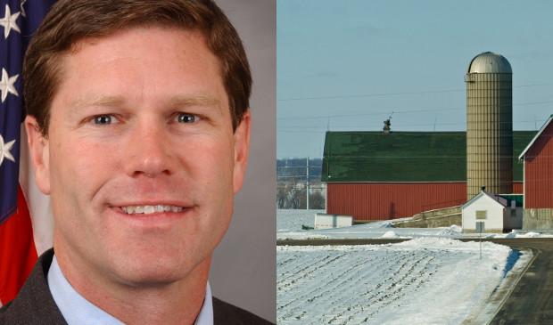 U.S. Rep. Ron Kind, farm in winter