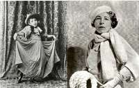 Edna Ferber as child, left, and adult