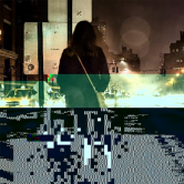 Glitched woman