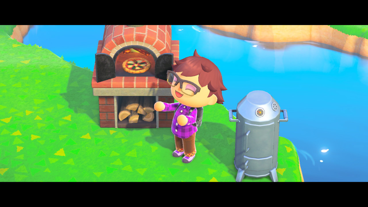 "Mark is very proud of his brick pizza oven. Acquiring cool stuff for your house and yard are a big part of the gameplay loop of ""Animal Crossing."" Nintendo/Mark Riechers (TTBOOK)"