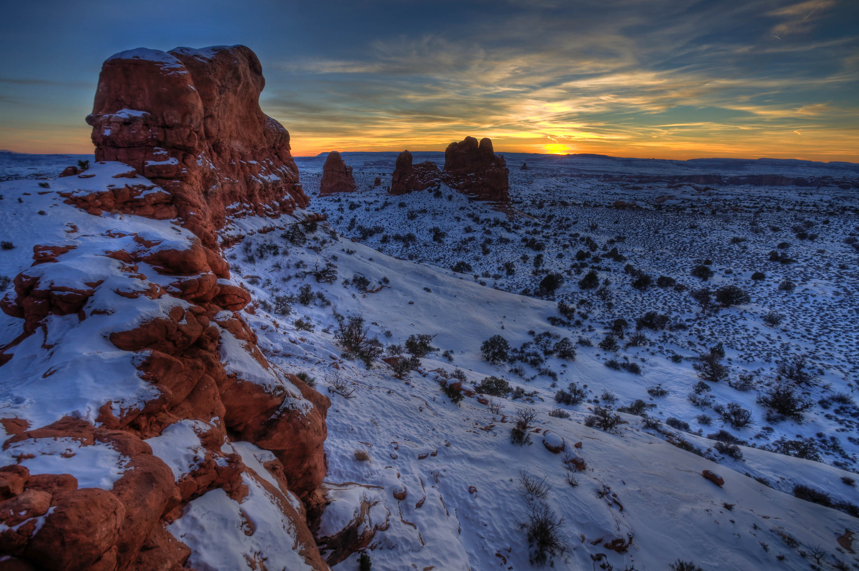 Winter Sunset. <em>Jacob W. Frank(NPS)</em>