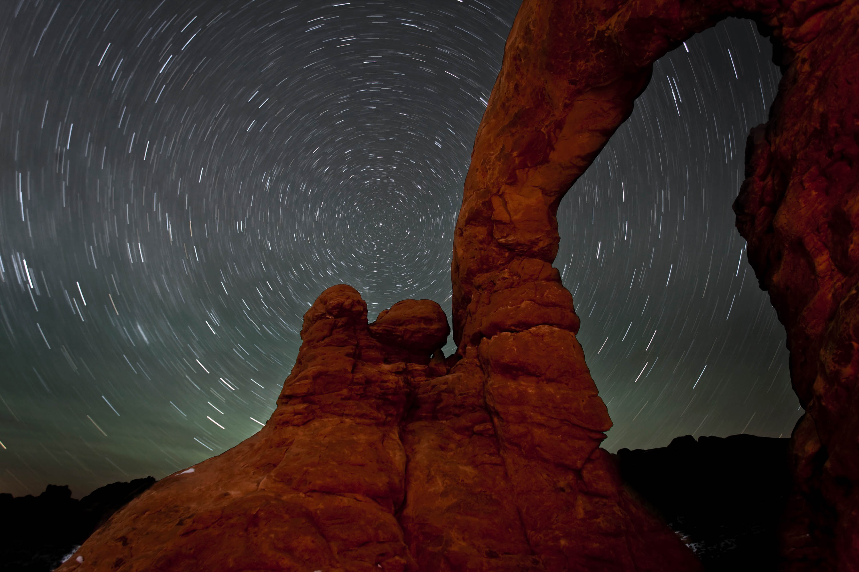 Double Arch with Star Trails.<em>&nbsp;Jacob W. Frank (NPS)</em>