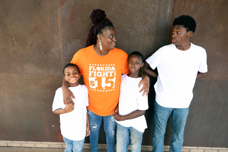 Monica Scott and her kids