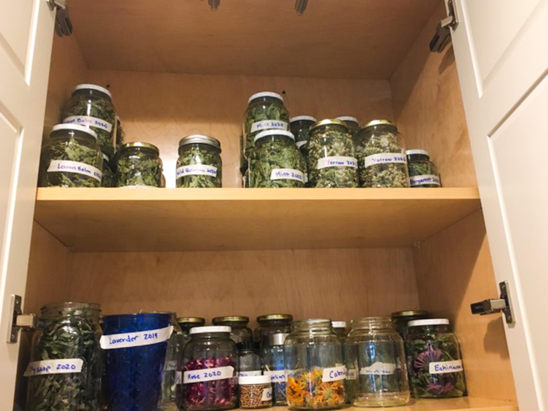 More dried herbs in Brooke's medicine cabinet.<em> Brooke Hecht (CHN)</em>