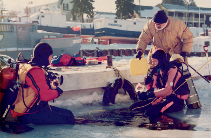 """One of my earliest dives, in Tobermory, Ontario. I didn't know then that ice diving would end up opening doors to future adventures in the polar regions."" <em>(Jill Heinerth)</em>"