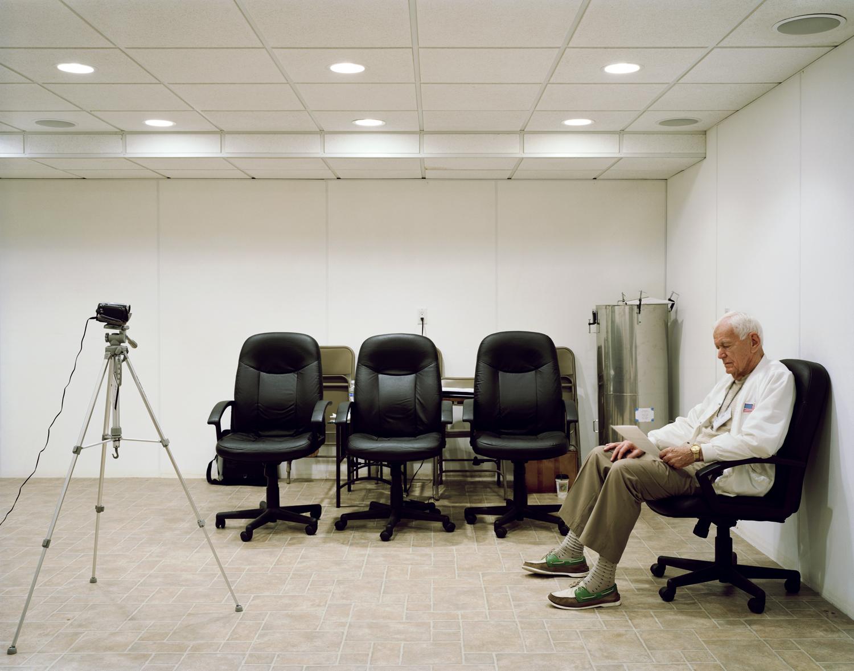 John, a prospective patient, recording a video testimony | Terasem Movement Inc. Melbourne Beach, Florida, USA 2010