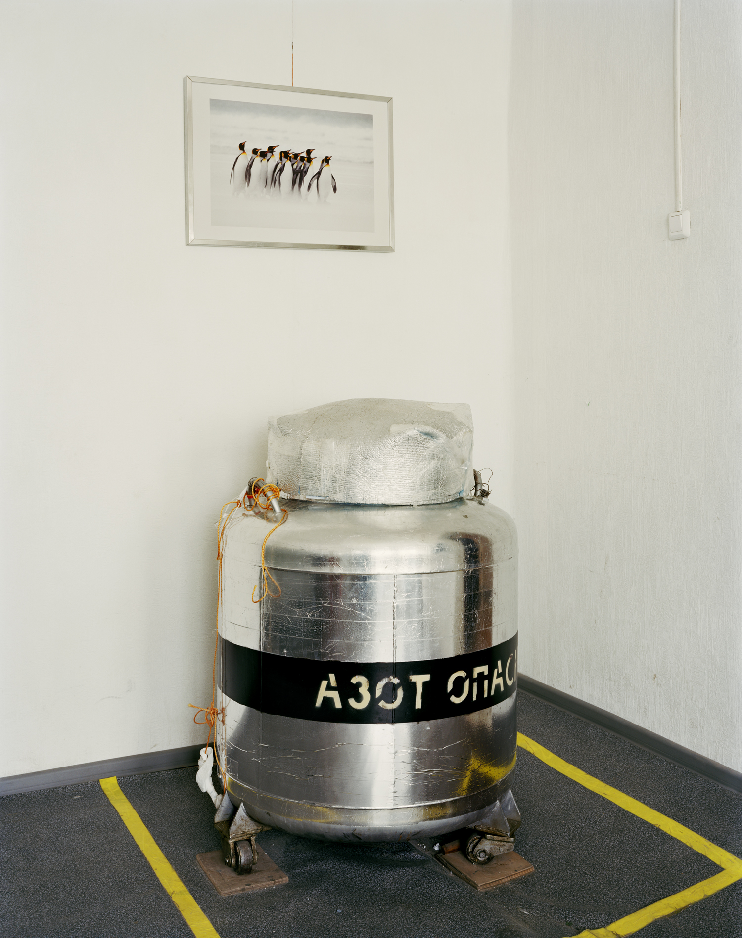 Cryostat, which stores the head of the first cryonics patient in Russia, Lidia Fedorenko, and many DNA samples | KrioRus, Alabushevo, Moscow, Russia 2010