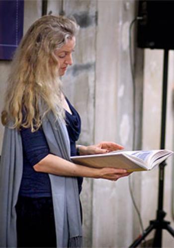 Rebecca Solnit reading book