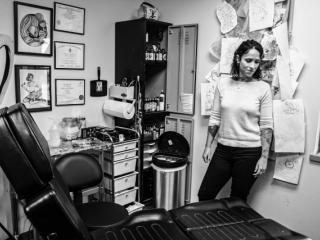 Alissa Waters in her shop.