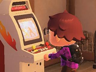 Mark playing a game in his basement.