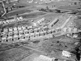 An aerial shot of the Garden Homes neighborhood in Milwaukee.
