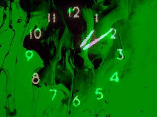 A glowing radium clock.
