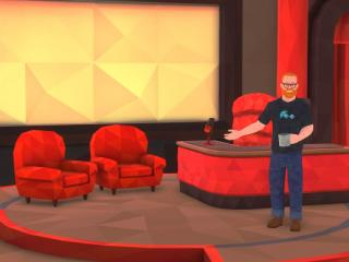The Foo Show set, in virtual reality.