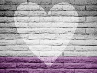 A wall with the asexual flag colors