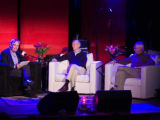 Steve Paulson, Jeff Schloss and David Sloan Wilson