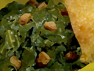 cooked greens