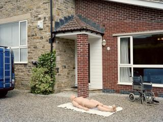 Practice dummy, Cryonics UK standby team training | Tim's house, Sheffield, UK 2010