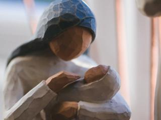 mary and jesus puppet