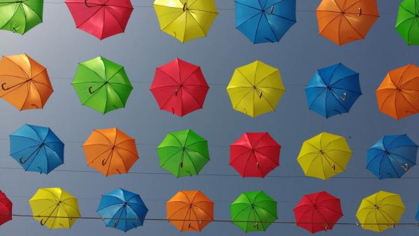 Umbrellas as art
